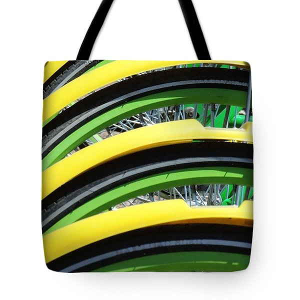 Yellow Bike Fenders Tote Bag