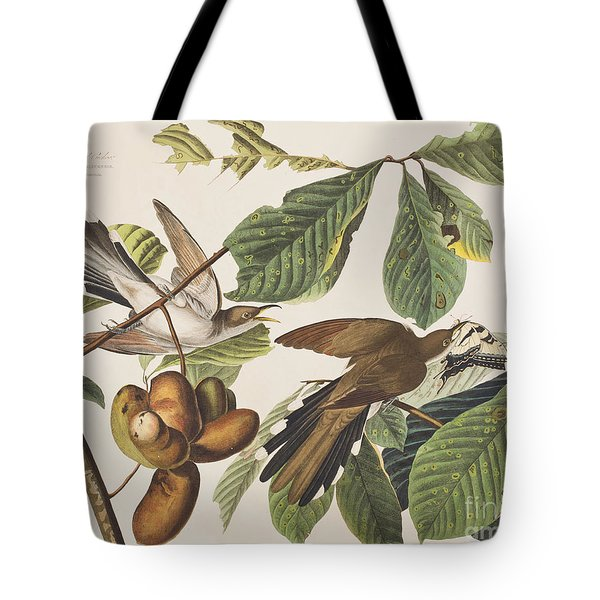 Yellow Billed Cuckoo Tote Bag by John James Audubon