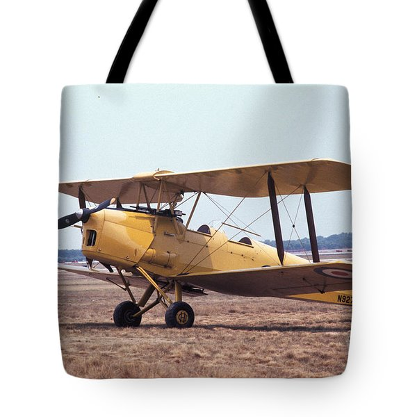 Tote Bag featuring the photograph Yellow Bipe by Donald Paczynski
