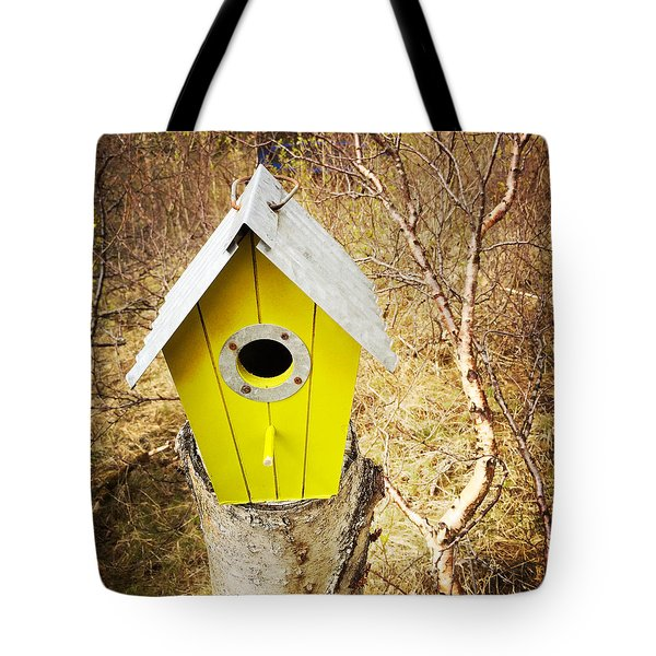 Yellow Bird House Tote Bag