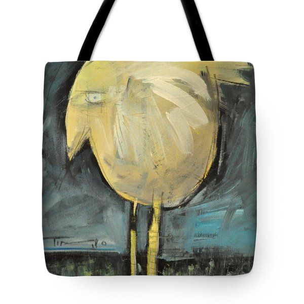 Yellow Bird In Field Tote Bag by Tim Nyberg