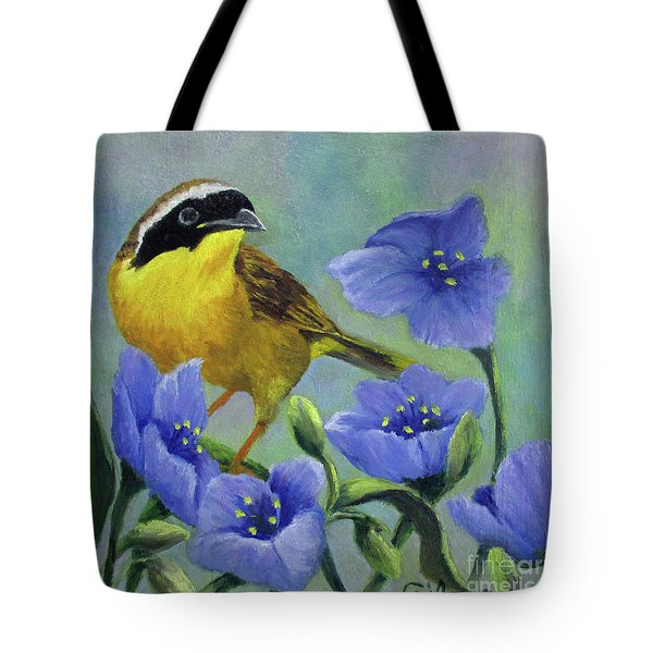 Yellow Bird Tote Bag by Roseann Gilmore