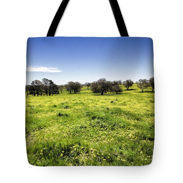 Tote Bag featuring the photograph Yellow Blanket by Douglas Barnard