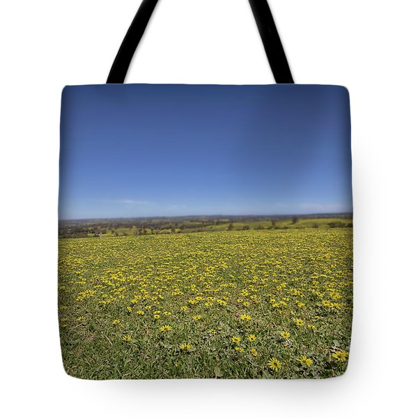 Tote Bag featuring the photograph Yellow Blanket II by Douglas Barnard