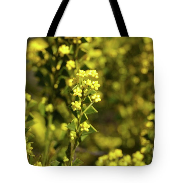 Yellow Blooms Tote Bag by Cassandra Buckley