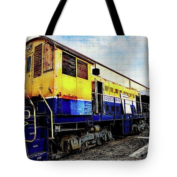 Yellow/blue Birmingham Tote Bag