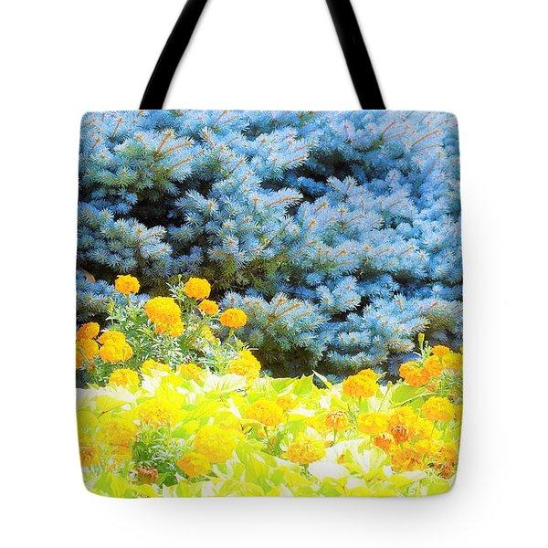Yellow, Blue, Orange Tote Bag