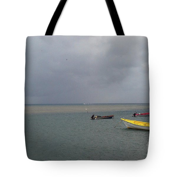 Tote Bag featuring the photograph Yellow Boat by Gary Wonning