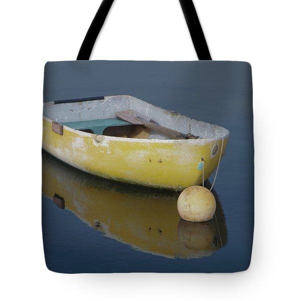Yellow Rowboat Tote Bag