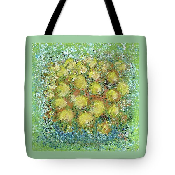 Tote Bag featuring the painting Yellow Bouquet by Corinne Carroll
