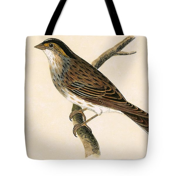 Yellow Browed Bunting Tote Bag