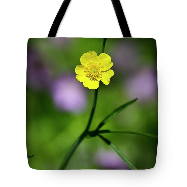 Yellow Buttercup Tote Bag by Christina Rollo