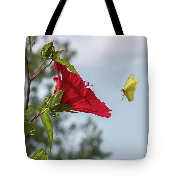 Yellow Butterfly Art Tote Bag