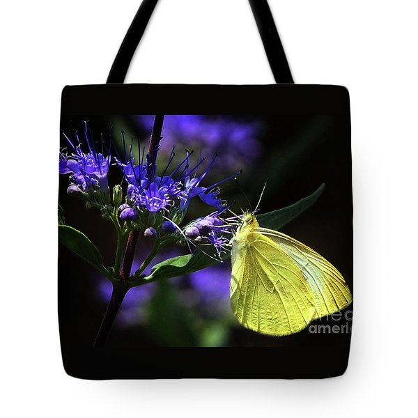 Tote Bag featuring the photograph Yellow Butterfly  by Elaine Manley