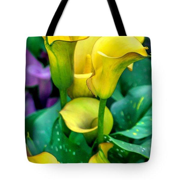 Yellow Calla Lilies Tote Bag