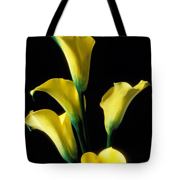 Yellow Calla Lilies  Tote Bag by Garry Gay
