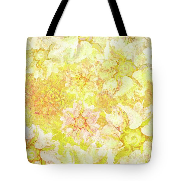 Yellow Camellia Hedges Tote Bag