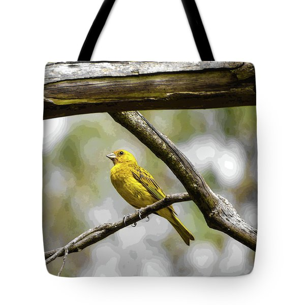 Yellow Canary Tote Bag
