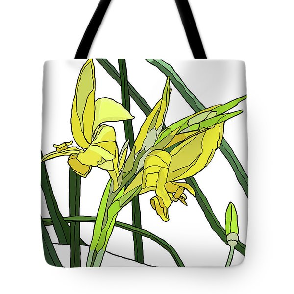 Yellow Canna Lilies Tote Bag