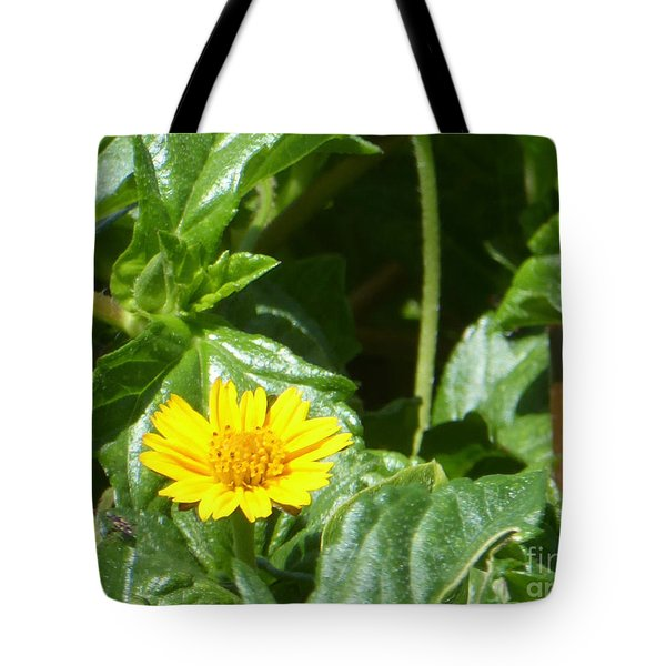 Yellow Caribbean Flower Tote Bag
