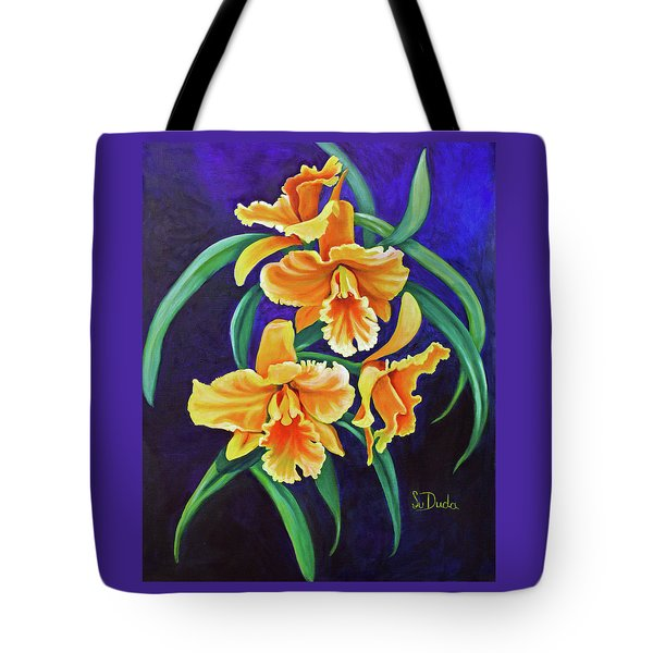 Yellow Cattlya Orchids Tote Bag