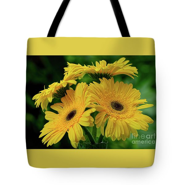 Tote Bag featuring the photograph Yellow Chrysanthemums By Kaye Menner by Kaye Menner