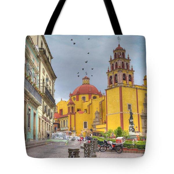 Yellow Church Tote Bag