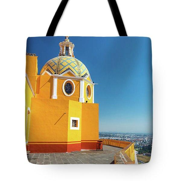 Yellow Church View Tote Bag