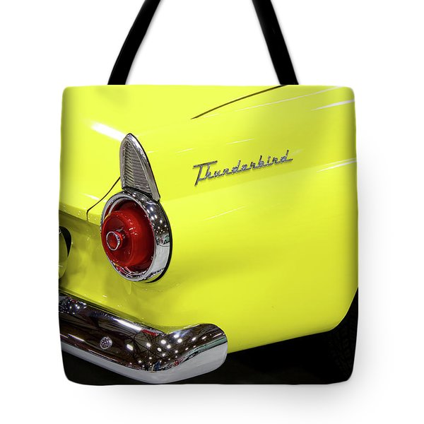 Yellow Classic Thunderbird Car Tote Bag
