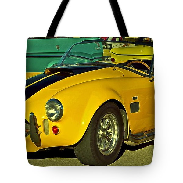 Yellow Cobra Tote Bag by Gwyn Newcombe