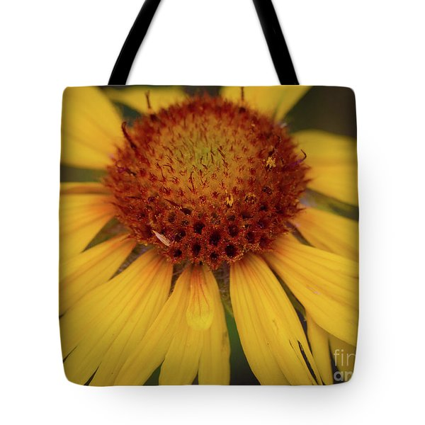Yellow Cone Flower Tote Bag