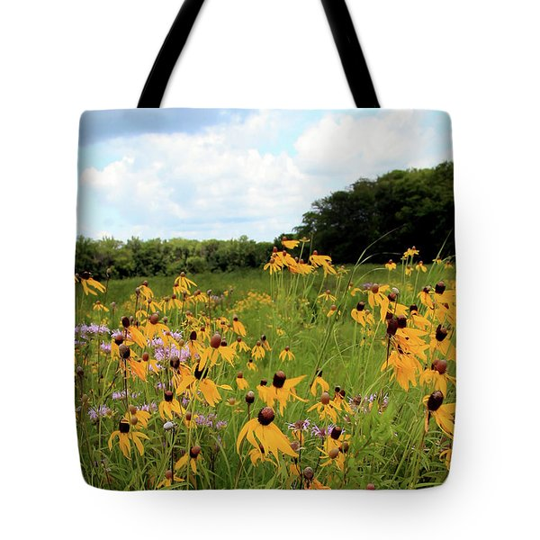 Yellow Cone Flowers Tote Bag