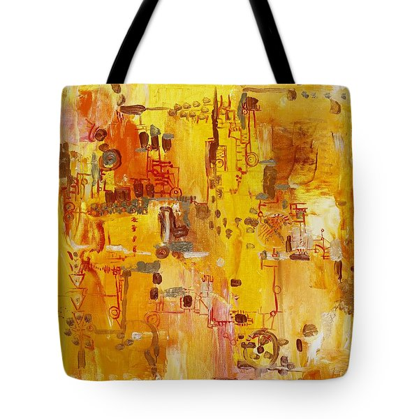 Yellow Conundrum Tote Bag