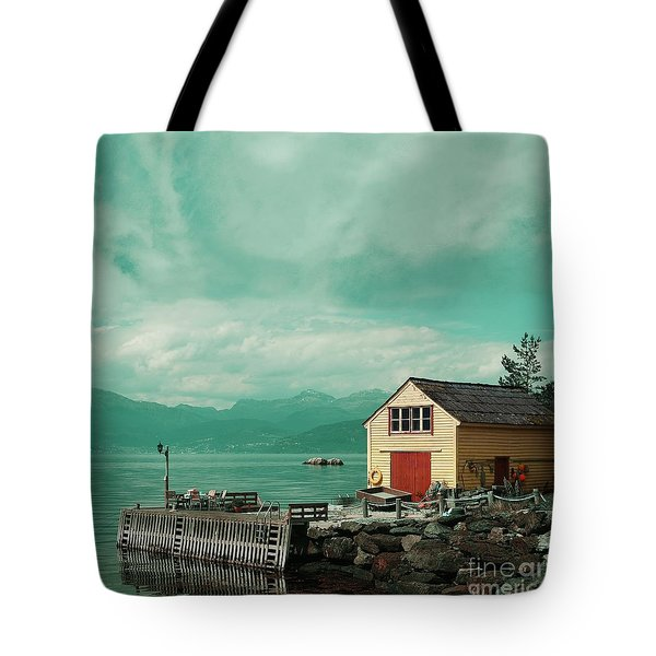 Yellow Cottage Tote Bag
