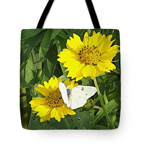 Yellow Cow Pen Daisies Tote Bag