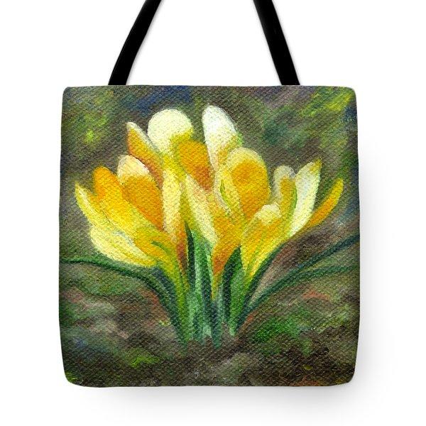 Yellow Crocus Tote Bag