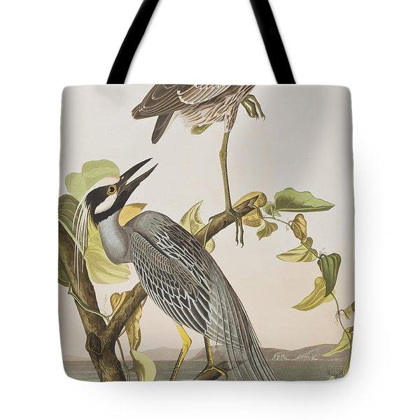Yellow Crowned Heron Tote Bag