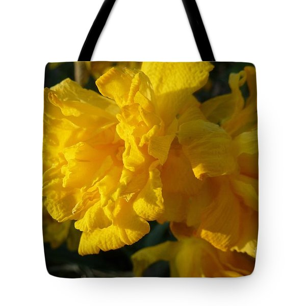 Yellow Daffodils Tote Bag by Jean Bernard Roussilhe