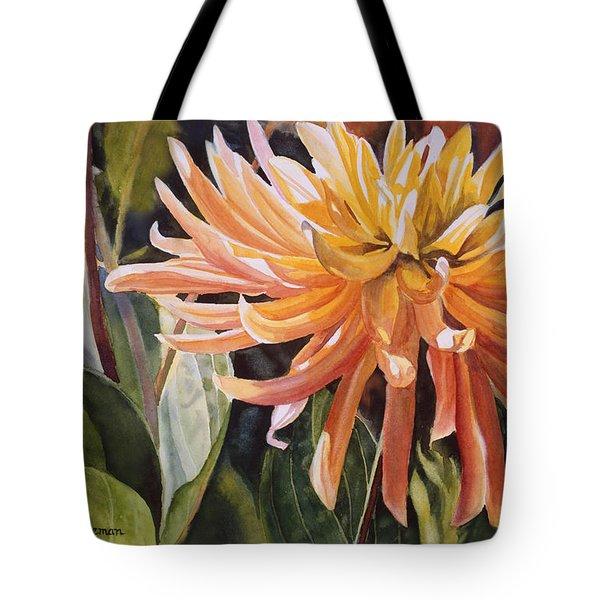Yellow Dahlia Tote Bag by Sharon Freeman