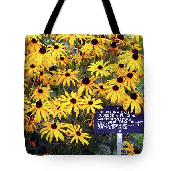 Yellow Daisies Tote Bag by Ellen Tully
