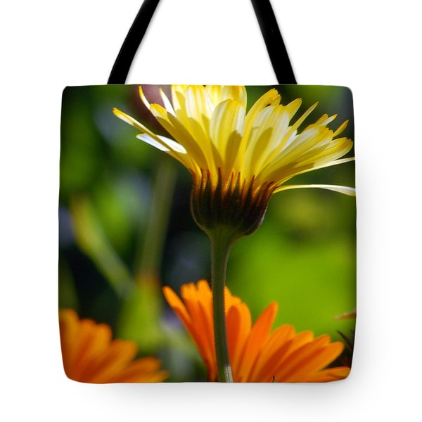 Yellow Daisy Tote Bag by Amy Fose