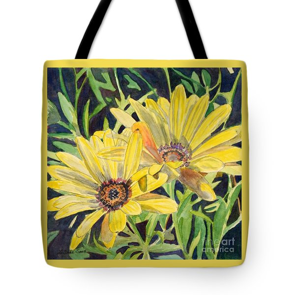 Yellow Daisy Tote Bag by LeAnne Sowa