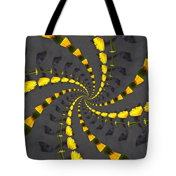 Yellow Daisy Spin Wheel  Tote Bag