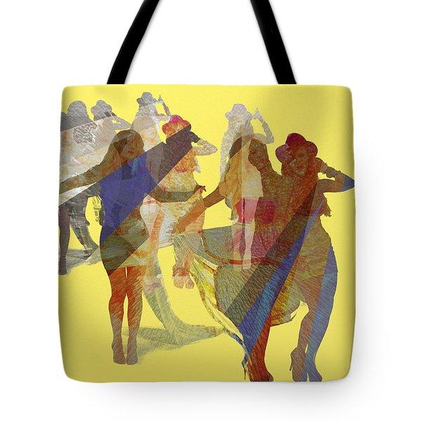 Yellow Dance Tote Bag