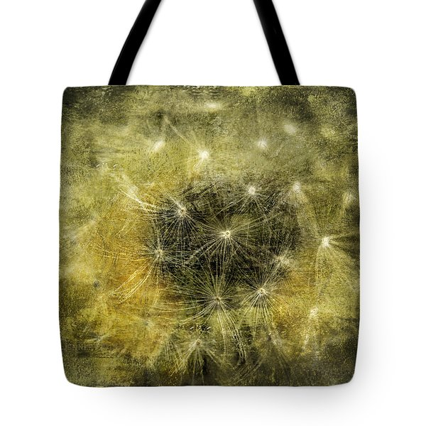 Yellow Dandelion Fluff Tote Bag