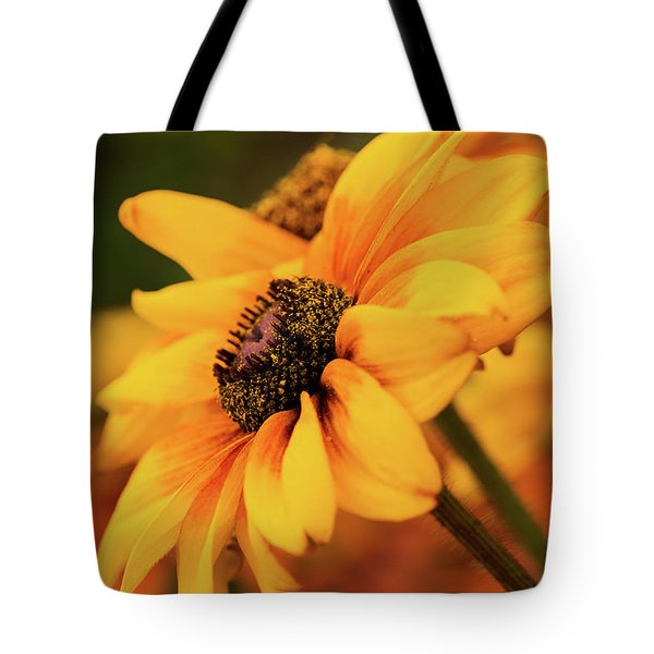 Tote Bag featuring the photograph Yellow Dark by Mary Jo Allen