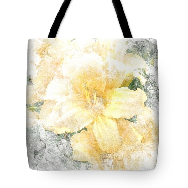Tote Bag featuring the photograph Yellow Daylily by Michele A Loftus