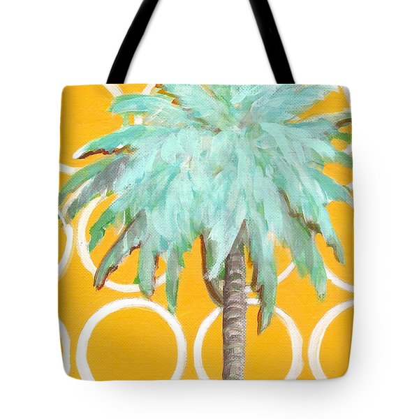 Yellow Delilah Palm Tote Bag