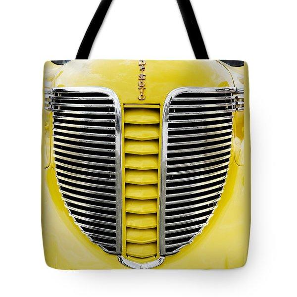 Yellow Desoto Grill Tote Bag by Patrick Chuprina