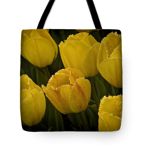 Yellow Detailed Tulip Tote Bag